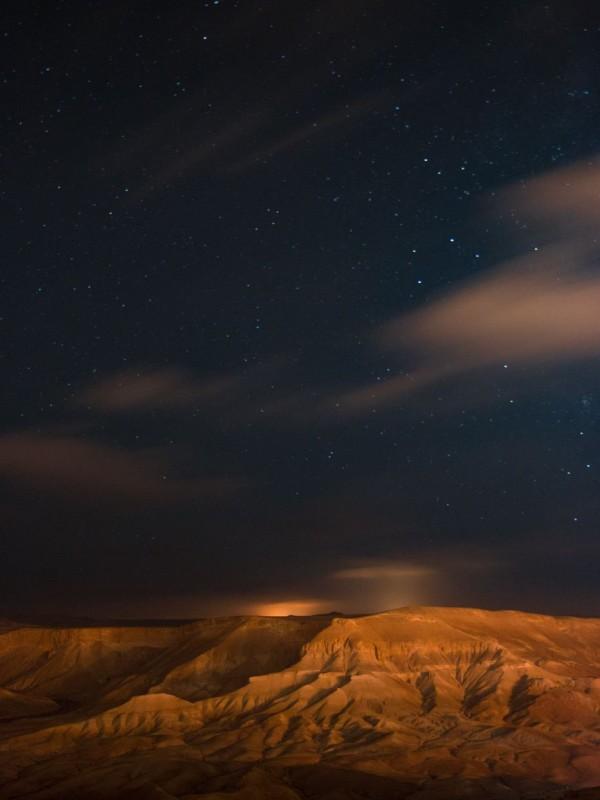 Night sky over the desert